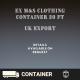 Wholesale Ex M&S Clothing Container 20ft Export