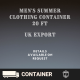 Wholesale men's summer clothing container